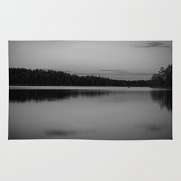 Black and White Sunset on Little Loon Rug