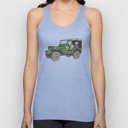 SUV. All-wheel off-road car. Unisex Tank Top