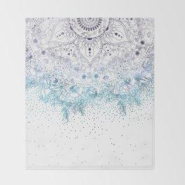 Elegant floral mandala and confetti image Throw Blanket