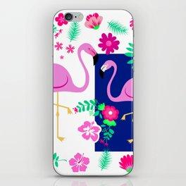 flamingo pattern iPhone Skin