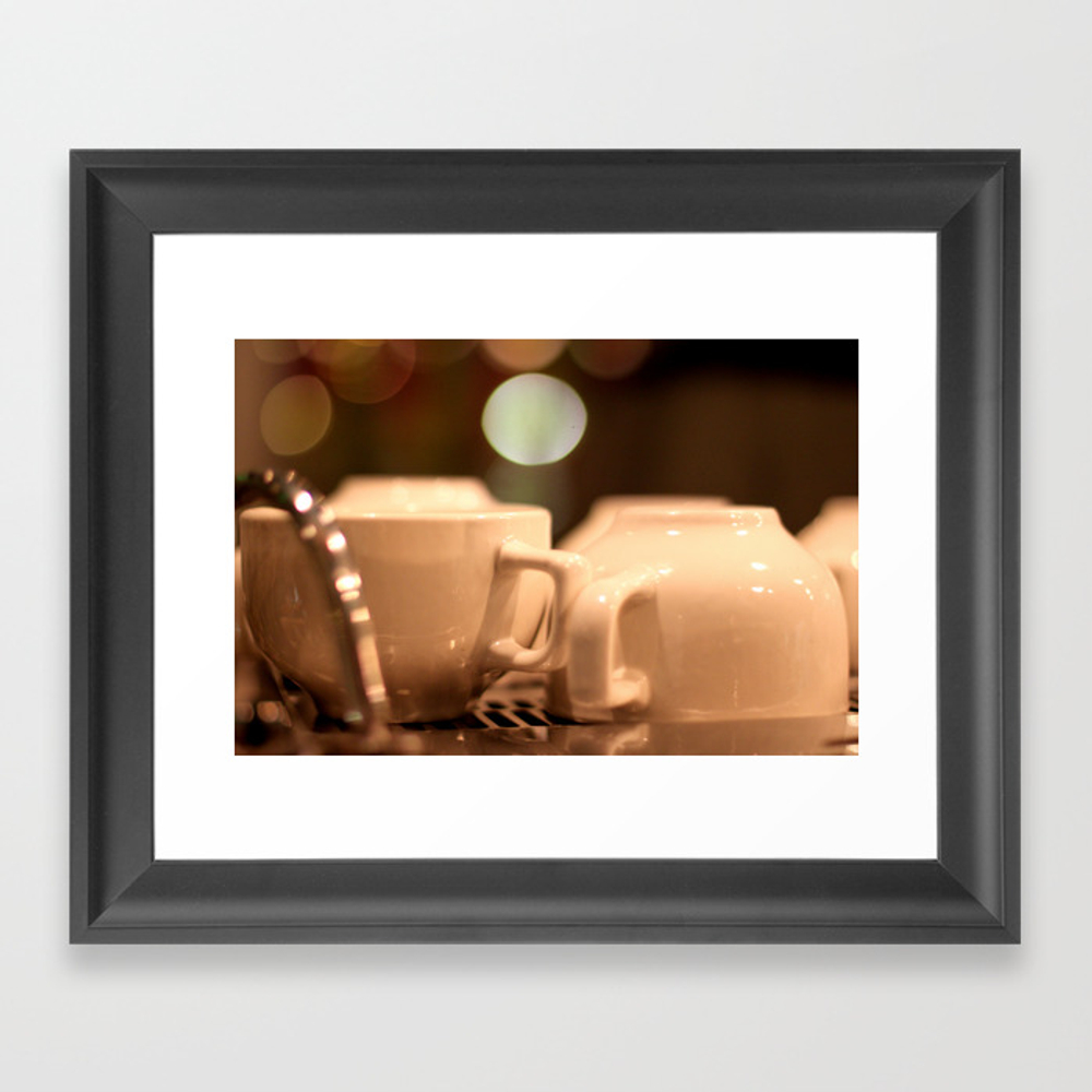 Coffee Cups Framed Artwork by Ohvictorho FRM928636
