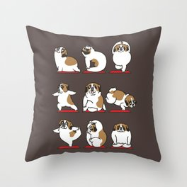 St. Bernard Yoga Throw Pillow