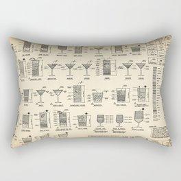 COCKTAIL poster, cocktail chart print Rectangular Pillow