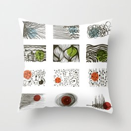 four seasons 2018 calendar Throw Pillow