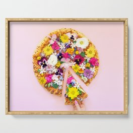 Flower Power Pizza Party Serving Tray