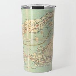 Vintage Road Map of Long Island (1905) Travel Mug