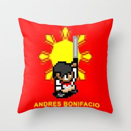 16-bit Andres Bonifacio Throw Pillow