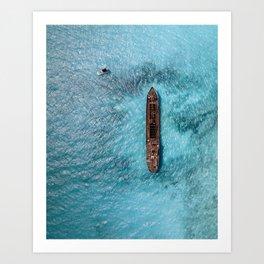 Shipwrecked III Art Print