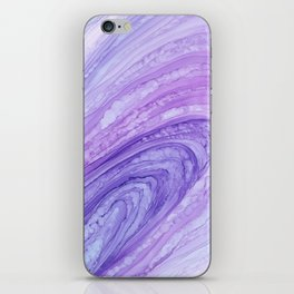 Purple Agate Geode Crystal Slice iPhone Skin