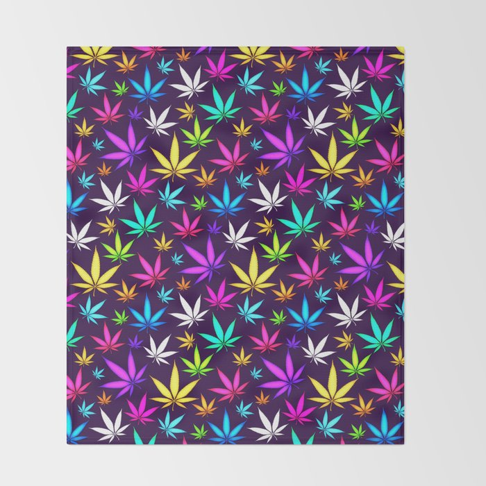 colorful og herb pattern throw blanket by tmarchev society6