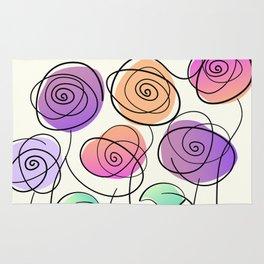 Half A Dozen Roses Rug