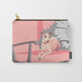 Dog in a chair #3 Italian Greyhound Carry-All Pouch