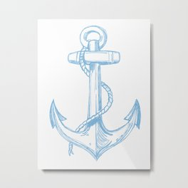 Its Like An Anchor... Metal Print
