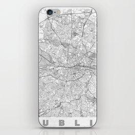 Dublin Map Line iPhone Skin