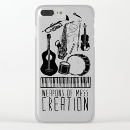 Weapons Of Mass Creation - Music Clear iPhone Case