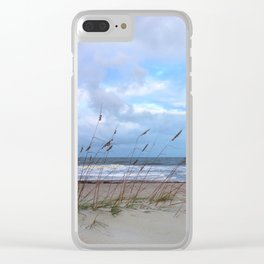 Sea Oats in the Wind Clear iPhone Case