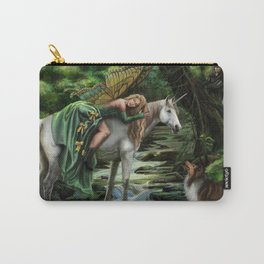 Sleeping Fairy on Unicorn Carry-All Pouch