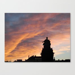 Maria Theresia, Winter in Wien Canvas Print