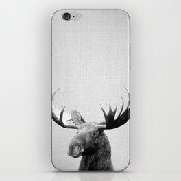 Moose - Black & White iPhone Skin