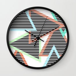 Sunset Triangles Wall Clock