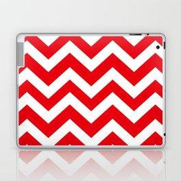 KU crimson - red color - Zigzag Chevron Pattern Laptop & iPad Skin