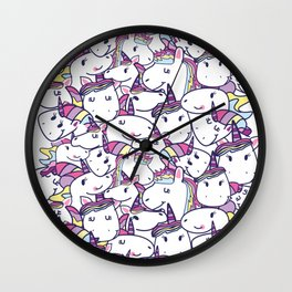 a lot of unicorns Wall Clock