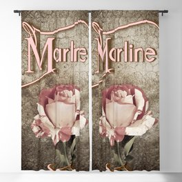 Personalized Antique Rose Blackout Curtain