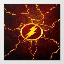 Flash With Lightning Canvas Print