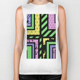 Pastel Corners (Abstract, geometric, textured designs) Biker Tank