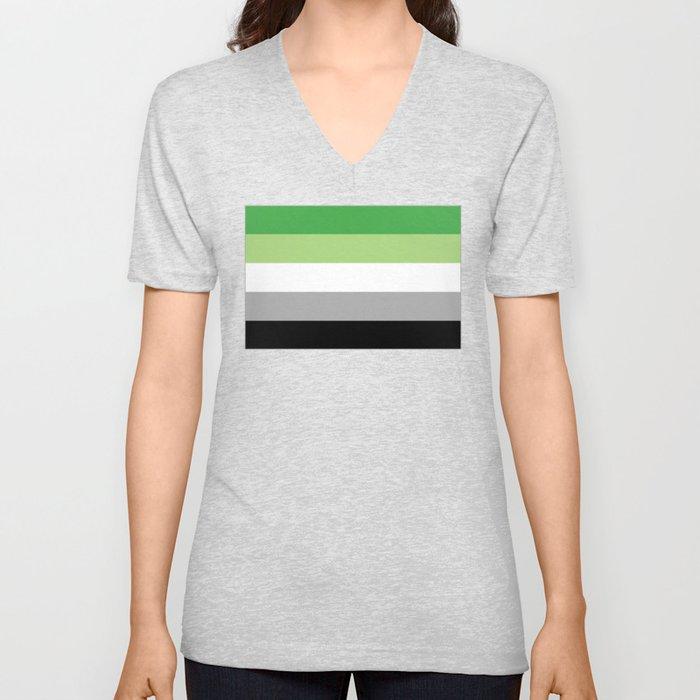 Aromantic Flag Unisex V-Neck