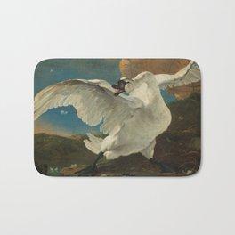 The Threatened Swan by Jan Asselijn Bath Mat