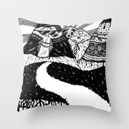 Trippy Mountains Throw Pillow