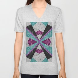 Marble Geometric Background G443 Unisex V-Neck