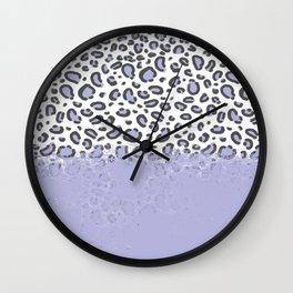 Cheetah - Animal, Spots, Dots, painterly pattern, design, painted design, Cheetah print Wall Clock