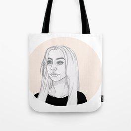 Peach Circle Tote Bag