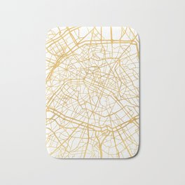 PARIS FRANCE CITY STREET MAP ART Bath Mat