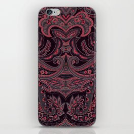Paisley 9 Red iPhone Skin