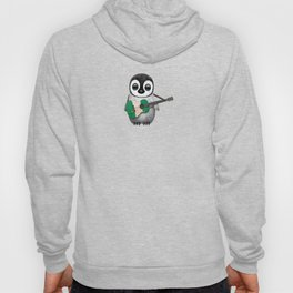 Baby Penguin Playing Nigerian Flag Acoustic Guitar Hoody