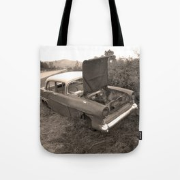 1957 Vauxhall Victor - dead cars series 102 Tote Bag