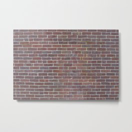 Worn Brick Surface Metal Print