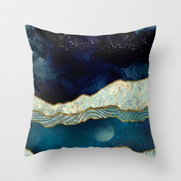 Indigo Sky Throw Pillow