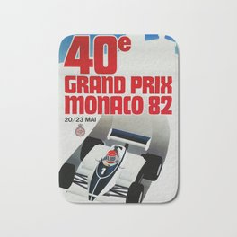 Gran Prix de Monaco, 1982, original vintage poster Bath Mat
