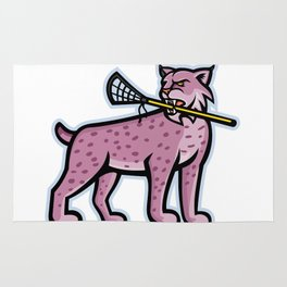 Bobcat or Lynx Lacrosse Mascot Rug