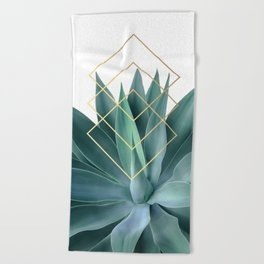 Agave geometrics Beach Towel