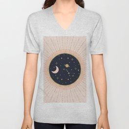 Love in Space Unisex V-Neck