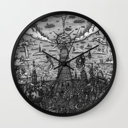 Tower of Babel Wall Clock