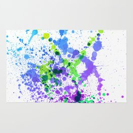 Multicolor Madness - Splatter Style Rug