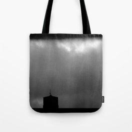 Dark sky and sunrays Tote Bag