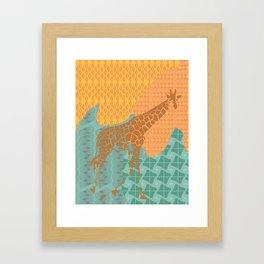 Gentle Giraffe  Framed Art Print