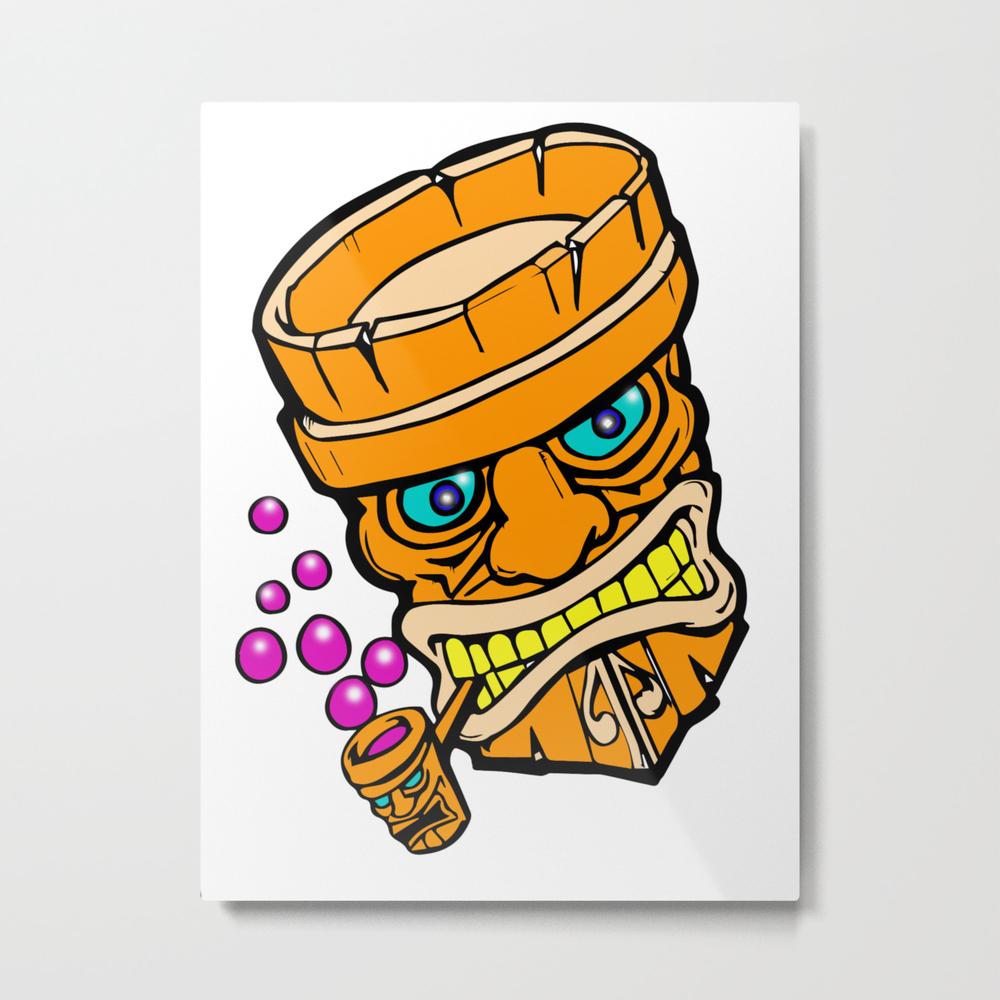 Mr Tiki The Bubble Blow'n Machine Metal Print by Wichitacathedral MTP8501148